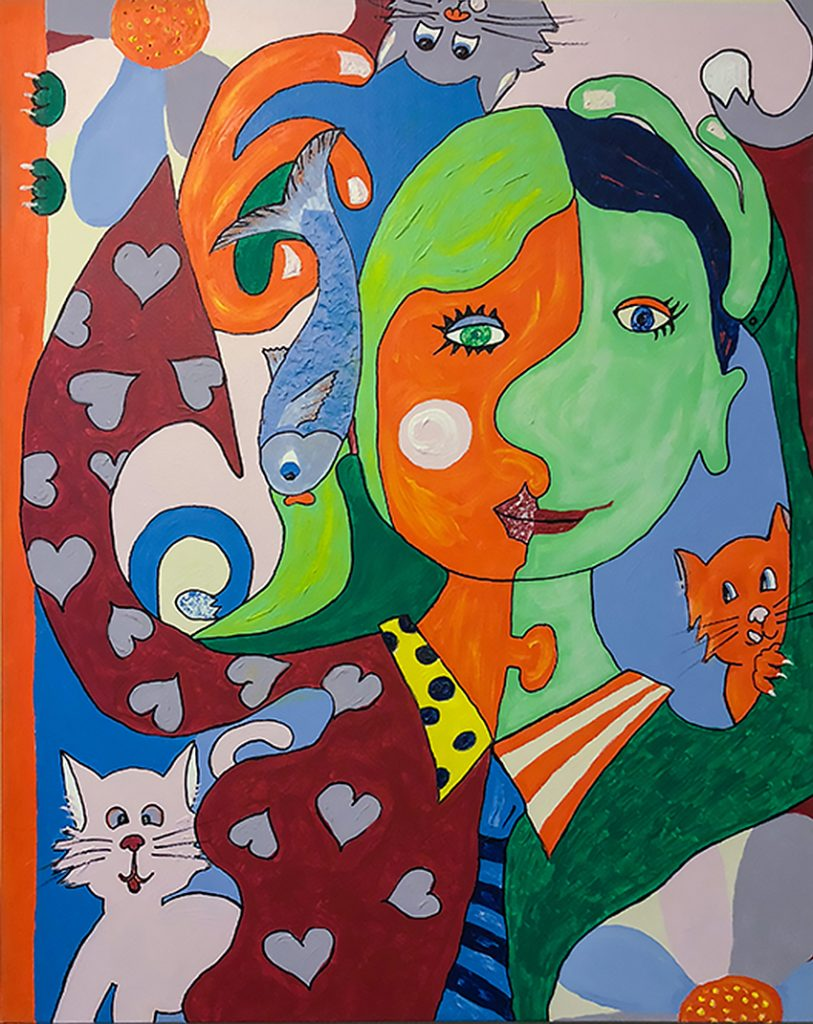 MicheleTaras_one fish and five cats