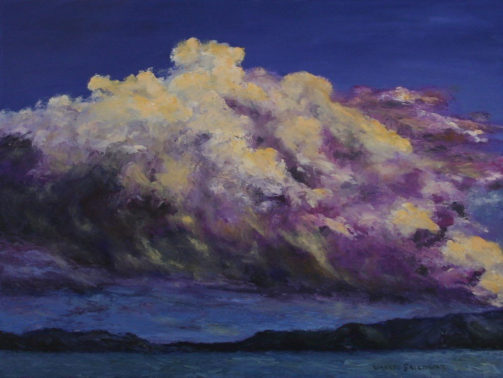 Nunavut Clouds - Oil Painting - Warren Galloway